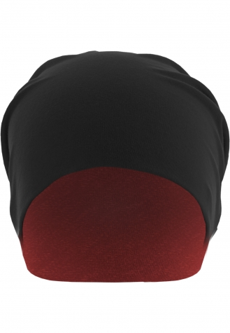 Jersey Beanie reversible blk/red | one size