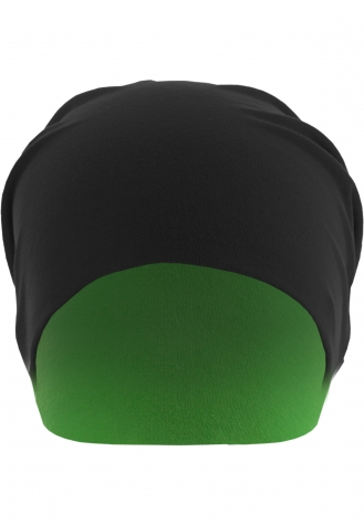 Jersey Beanie reversible blk/neongreen | one size