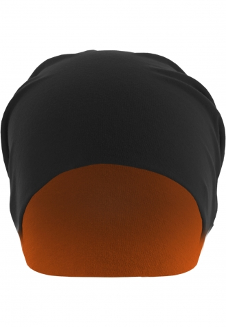Jersey Beanie reversible blk/neonorange | one size
