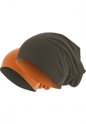 Jersey Beanie reversible chocolate/orange | one size