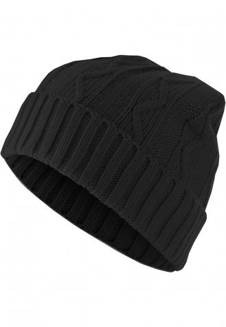 Beanie Cable Flap black | one size