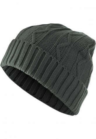 Beanie Cable Flap charcoal | one size