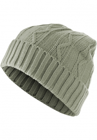 Beanie Cable Flap grey | one size