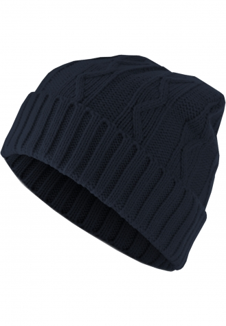 Beanie Cable Flap navy | one size