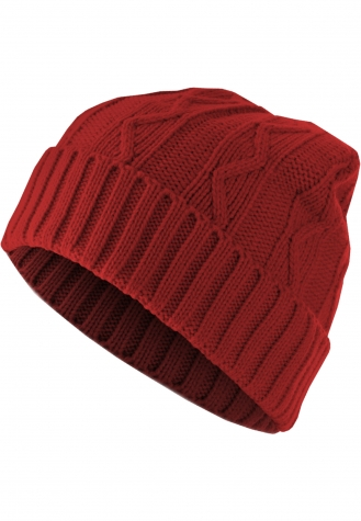 Beanie Cable Flap red | one size