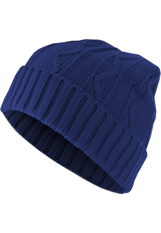 Beanie Cable Flap royal | one size