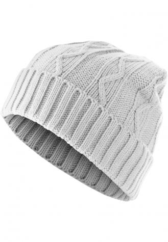 Beanie Cable Flap white | one size
