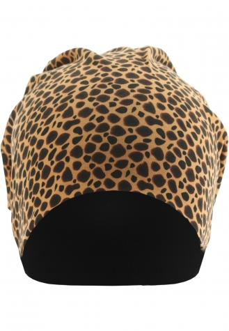 Printed Jersey Beanie cheetha/black | one size