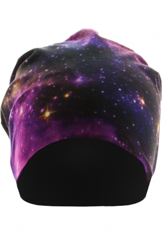 Printed Jersey Beanie galaxy/black | one size