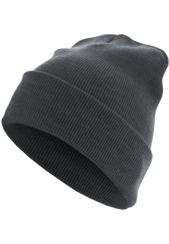 Beanie Basic Flap Long Version h.grey | one size