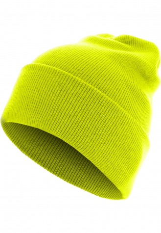 Beanie Basic Flap Long Version neonyellow | one size