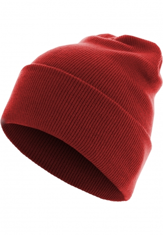 Beanie Basic Flap Long Version red | one size