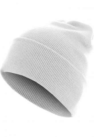 Beanie Basic Flap Long Version white | one size