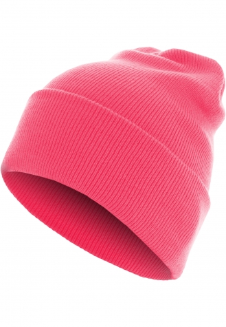 Beanie Basic Flap Long Version neonpink | one size