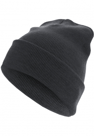 Beanie Basic Flap Long Version h.charcoal | one size