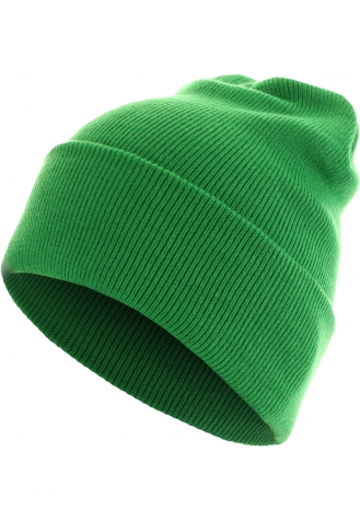 Beanie Basic Flap Long Version kelly | one size
