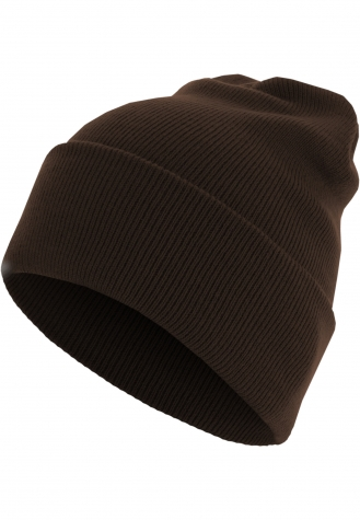 Beanie Basic Flap Long Version chocolate | one size