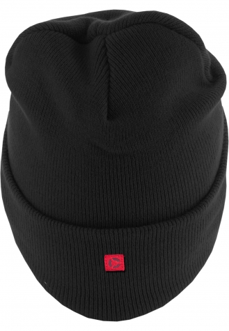 Letter Cuff Knit Beanie V   one size