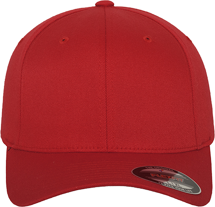 Flexfit Wooly Combed Cap Red | XS/S