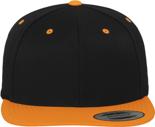 Unisex Classic Snapback 2-Tone Orange / Black