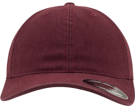 Garment Washed Cotton Dad Hat Maroon | S/M
