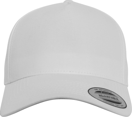 5 Panel Curved Classic Snapback White