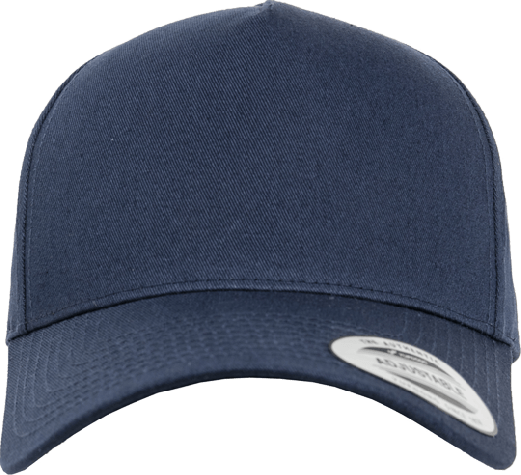 5 Panel Curved Classic Snapback Navy