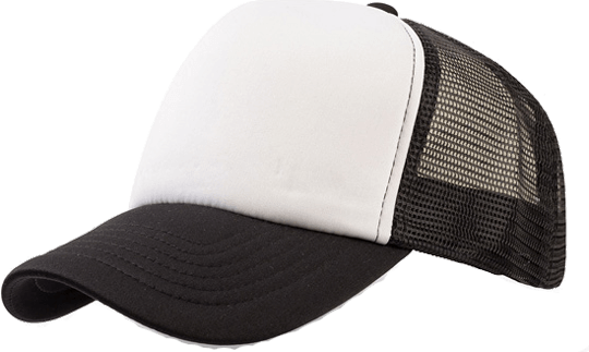 5 Panel Bull Trucker Cap Atlantis White Black