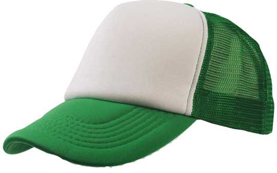 5 Panel Bull Trucker Cap Atlantis White Green