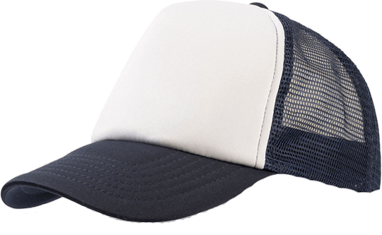 5 Panel Bull Trucker Cap Atlantis White Navy