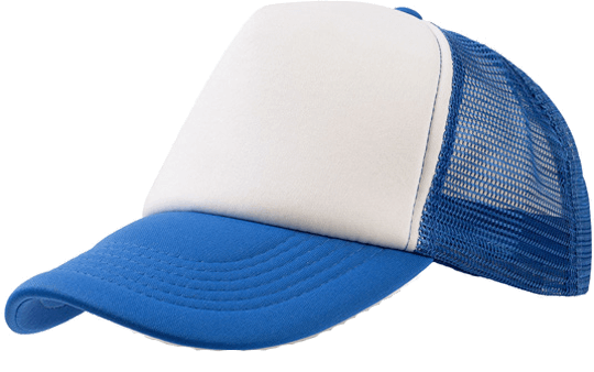 5 Panel Bull Trucker Cap Atlantis White Royal