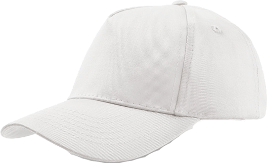 5 Panel Kinder Base Cap White