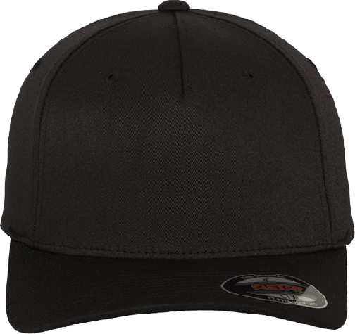 Flexfit 5 Panel Base Cap Black | L/XL
