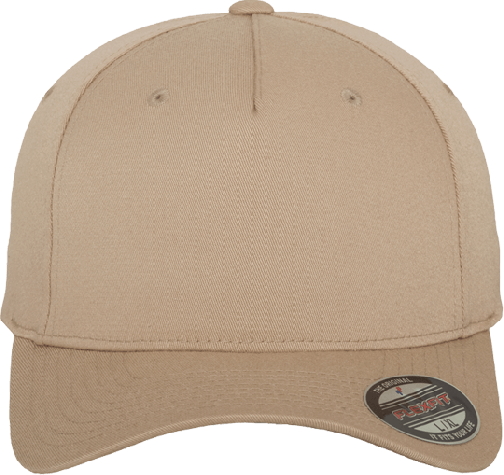 Flexfit 5 Panel Base Cap Khaki | S/M