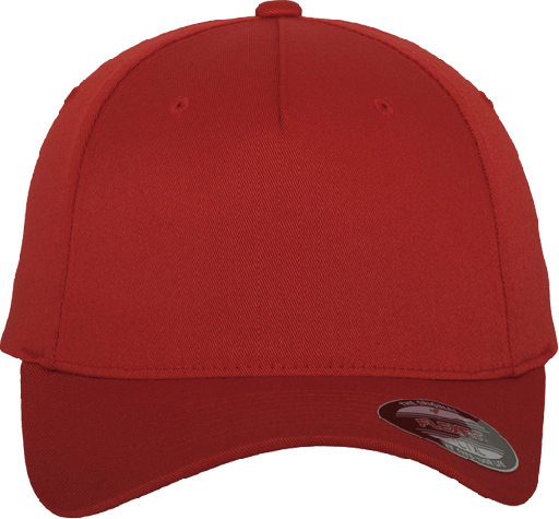 Flexfit 5 Panel Base Cap Red | S/M