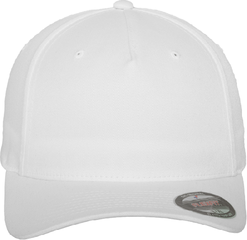 Flexfit 5 Panel Base Cap White | S/M