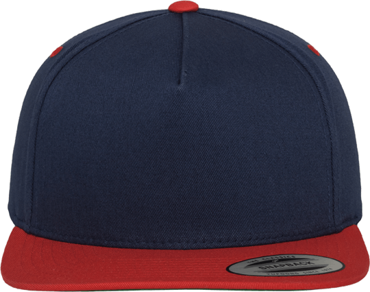 5 Panel Classic Snapback Navy / Red