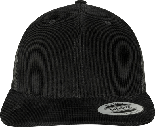 Corduroy Retro Trucker Cap Black
