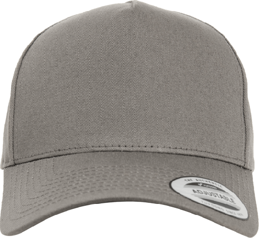 5 Panel Curved Classic Snapback Grey