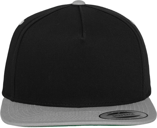 5 Panel Classic Snapback Black / Silver