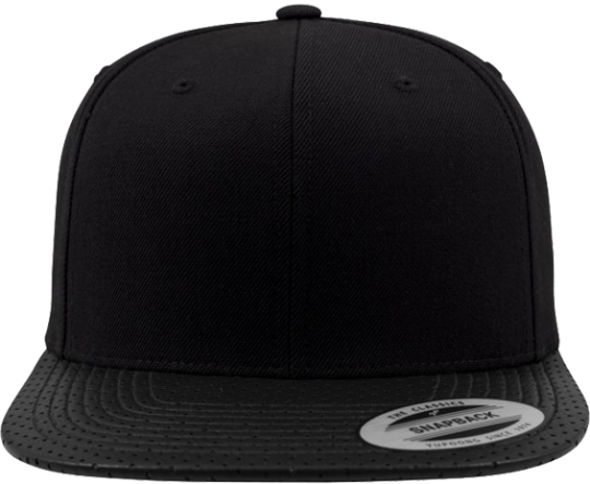 Perforated Visor Snapback Black