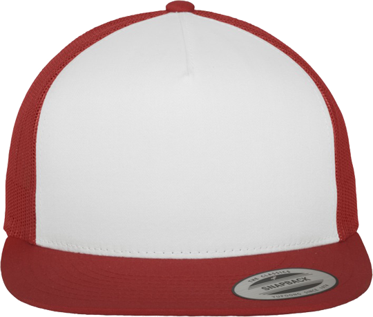 Classic Trucker Cap Woman White / Red