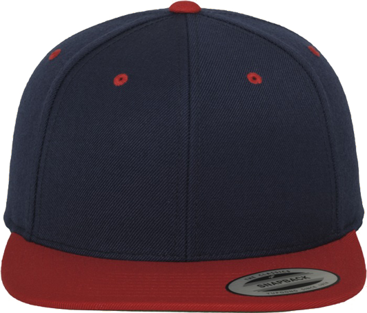 Unisex Classic Snapback 2-Tone Navy / Red