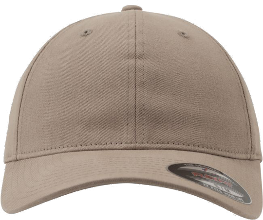 Garment Washed Cotton Dad Hat Khaki | L/XL