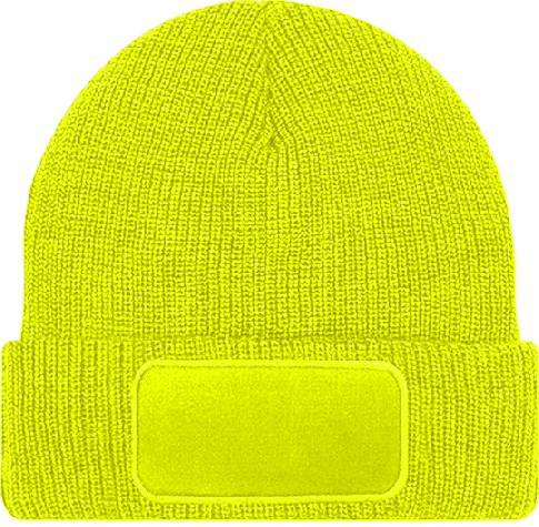 Patch Beanie Thinsulate Fluorescent Yellow