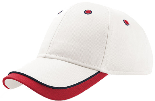 Baseball Cap Kid Star Ecru/Red