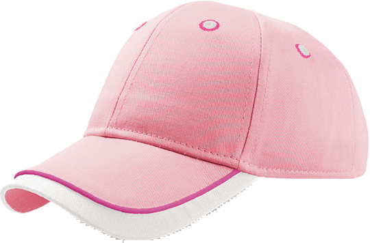 Baseball Cap Kid Star Pink/White
