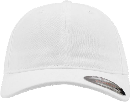 Garment Washed Cotton Dad Hat White | S/M