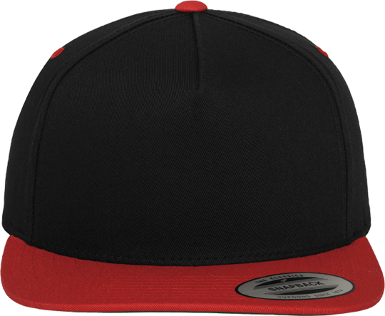 5 Panel Classic Snapback Black / Red