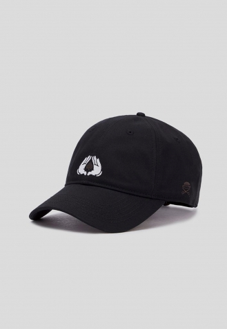 C&S WL All In Curved Cap blk/wht   one size
